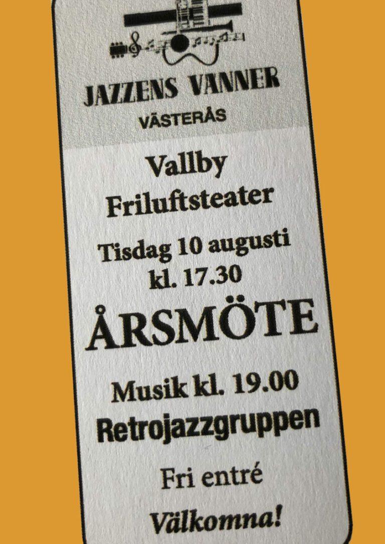 Jazzens Vänner Årsmöte 2021